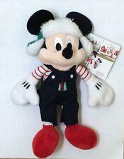 "BNWT Disney Mickey Mouse Christmas Holiday Plush Mini Bean Bag 9"" Toy"