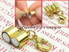 5x Fermoir Magnetique Aimant Doré Collier Bracelet Bijoux Accessoire DIY 6x35mm