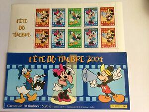 "Bande Carnet N°BC3641A - 2004 - Fête du Timbre  "" Walt Disney "" Neuf non plier"