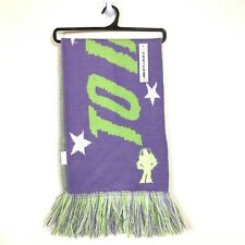 NWT DISNEY BUZZ LIGHTYEAR TO INFINITY AND BEYOND PURPLE GREEN KNIT FRINGE SCARF