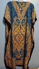African Women Kaftan Long Dress Gown Caftan Royle Blue Mustard Lime Free Size