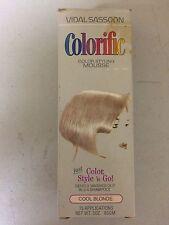 Vintage VIDAL SASSOON Colorific MOUSSE (COOL BLONDE) Washes out 3-4 Shampoo