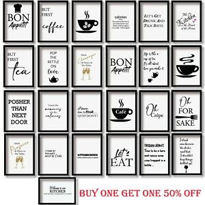 Motivational Inspirational Quotes Print Wall Art Home Decor Posters Prints Funny