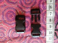 2 Boucles clip / clic clac attache rapide pour largeur de ruban/sangle 10 mm