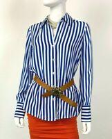 L'Agence New Tags 4 6 US 42 IT S 100% Silk Dress Shirt Top Blouse Runway Ret$425