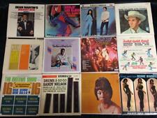 Lot of 12 Vintage 1960s Little LP Covers, 7 Inch Cardboard Picture Sleeves