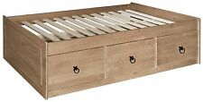 Core Products Premium Corona Solid Pine 3-Feet Single Cabin Bed with 3 Underbed Storage Drawers
