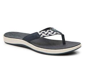 Sperry Top-Sider Women's Sandal Navy Blue Wht Seabrook Swell Thong 5.5 - 10 NIB