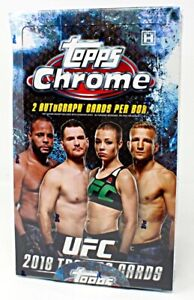 2018 TOPPS UFC CHROME HOBBY BOX BLOWOUT CARDS