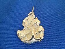LARGE 14k Yellow Gold Nugget Heavy Mens Pendant  13.73 GRAMS((34))