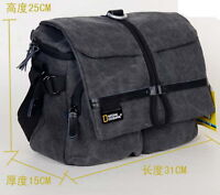 Canvas DSLR SLR Camera Case Bag Messenger Shoulder For Canon Nikon Sony