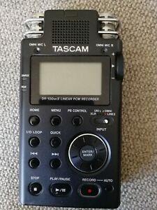 Tascam DR-100 MK2 (Portabler Audio-Recorder mit XLR-Eingängen und Fernbedienung)