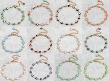New Arrival Women Lady Stainless Steel Bracelet Evil Eye Chain Wristband Cuff