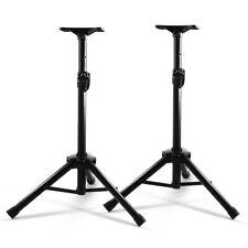 Set of 2 Adjustable 120CM Speaker Stand Black