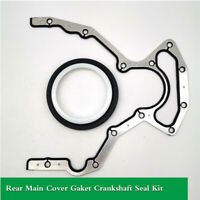 Rear Main Cover Gaket Crankshaft Seal Kit For LS 4.8 5.3 5.7 6.0 LS1 LQ4 LS2 LS3