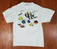 Vintage Men's Maui Hawaii Angel Fish Adult T Shirt Size Large