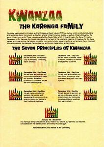 Kwanzaa Personalised Gift Scroll African American Celebration Karenga Heritage