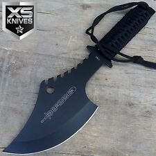 "11"" Tactical Survival TOMAHAWK BLACK THROWING AXE w/SHEATH Camping Hatchet Knife"