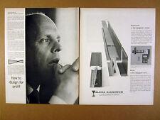 1960 industrial designer Tor Petterson voltron wattmeter design Alcoa vintage Ad