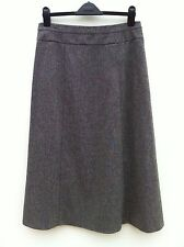 "WINDSMOOR Grey Wool Blend Midi Skirt Size 10 Length 33.5"" WORN ONCE"