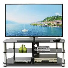 Living Room Tempered Glass TV Stand Table Unit Table For 32-60 inch Plasma TV UK