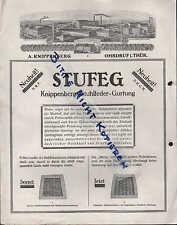 OHRDRUF, Prospekt/Preisliste 1930, STUFEG A. Knippenbergs Stuhlfeder-Gurtung