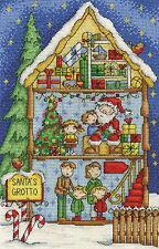 "DMC Christmas Cross Stitch Kit ""Santa's Grotto"""