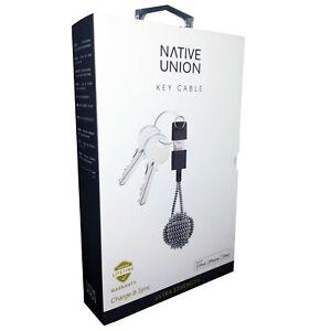 Native Union Key Cable MFi Lightning to USB Charge & Sync Zebra iPhone iPad iPod