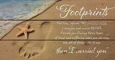 Footprints in the Sand Beach Scene 11 x 20 Wood Pallet Wall Art Sign Plaque