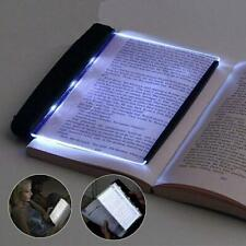 Portable LED Book Light Reading Night Tablet Flat Plate Panel Wireless Lamp Fast