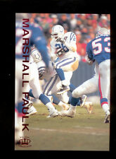 1995 Pacific Gridiron MARSHALL FAULK Indianapolis Colts Red Foil Card