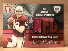 Josh McCown 2002 Topps Pristine Rookie Premiere Jersey Card NFL REEBOK Cardinals