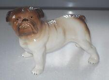 VINTAGE RETRO 1960s MELBA WARE STANDING BULLDOG PORCELAIN DOG FIGURINE