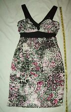 DE.CODED Dress Woman's  Fitted Size Medium Layered Tiers  formed fit stretchy