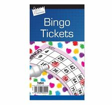 600 Bingo Game Single Ticket Card Flyer Pads Book 100 Sheet Security Coded Fun