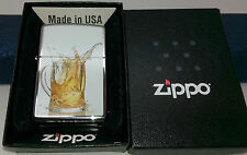 Authentic Zippo Beer Petrol Lighter.  Goldmine Jewellers.