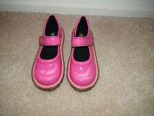 Girls Dr Doc Martens Mary Jane Bright Pink Patent Leather Toddler Sz 12 NEW
