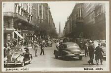 circa 1959 Buenos Aires Argentina RPPC vintage Volkswagen; Diagonal Norte