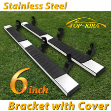 For 07 19 Silveradosierra Double Cab 6 Running Board Side Step Nerf Bar Ss H