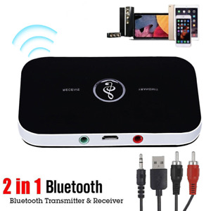 Bluetooth 5.0 Audio Transmitter Receiver RCA 3.5mm AUX Jack USB Dongle OMAD A94