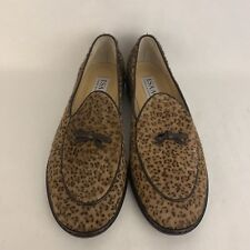 9c71c6a3255b Isaac Mizrahi Brown Animal Print Calf Hair And Leather Loafers Flats Size 7M
