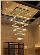 LED Square Crystal Ceiling Light Dining Room Living room hall Pendant Lamp Light