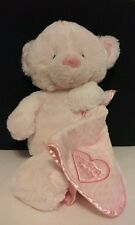 Pink My First Teddy Bear Baby Stuffed Animal by Nat and Jules