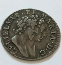 More details for 1689 william&mary maundy 3d silver coin*rare*no stops on rev* in good f tm6893d1