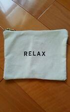 NEW canvas ZIPPER Relax beauty BAG DESIGNER GOOP