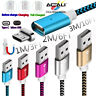 1M 2M 3M Magnetic Charger Type C Micro USB Cable For Samsung GalaxyS6 S7 S8 Plus