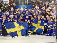 2006 TEAM SWEDEN Signed Autographed OLYMPIC GOLD 16x24 Photo Picture PSA/DNA