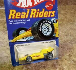1982,Hot Wheels, REAL RIDERS #4372,LIGHTNING GOLD,#2,1973 Malaysia Base,1/64
