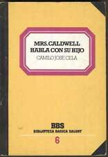 Camilo Jose Cela Book Mrs Caldwell Habla Con Su Hijo 1982