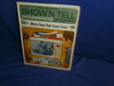 Vintage Ge Show'N Tell Where Does Rain Come From? Picturesound Program 1964